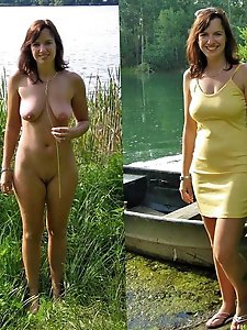 MILFs posing totally undressed
