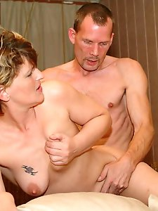 German mature dame showing her sexy lines