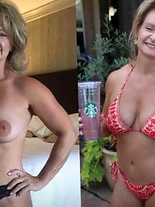 Ugly mature dame getting nude on pics